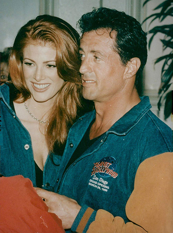 Sylvester Stallone ve Angie Everhart