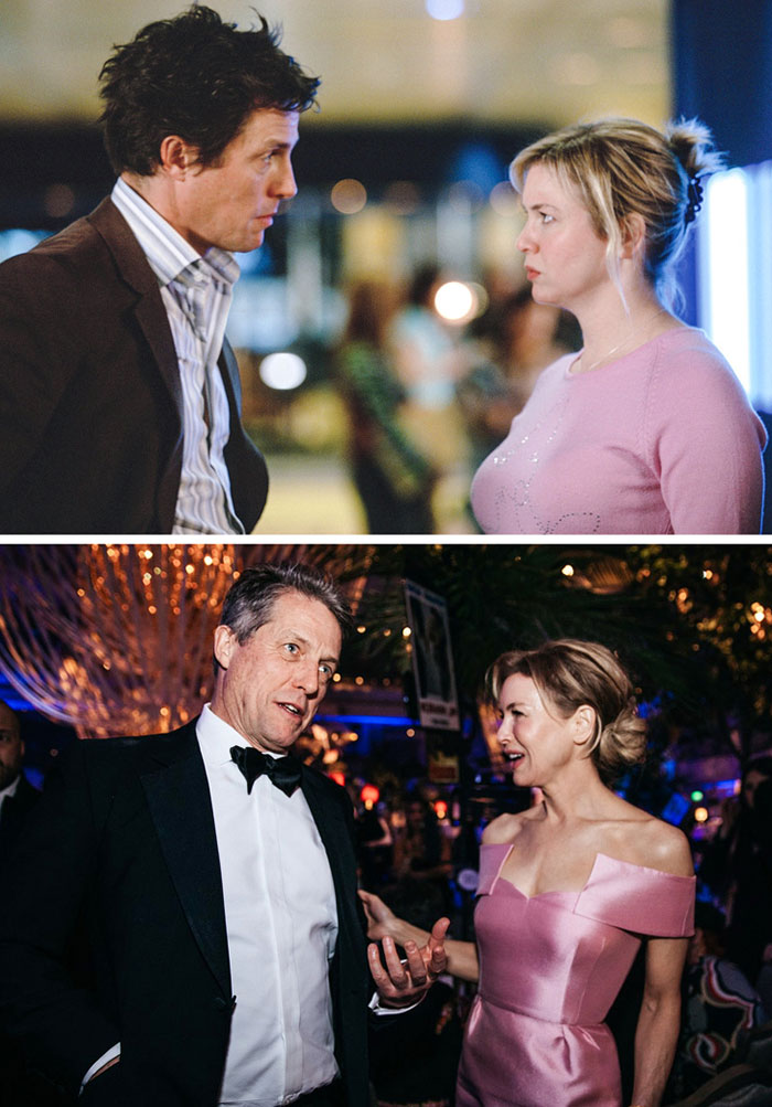 Renée Zellweger ve Hugh Grant (Bridget Jones's Diary)